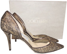 Jimmy Choo Lace Pointy Toe ADDISON D'Orsay 85mm Pump 39.5 Sandals Heel Shoes