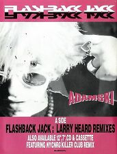 Adamski : Flashback Jack Advert 11x8