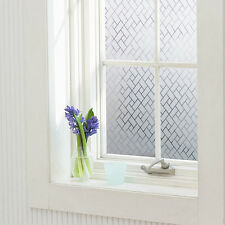 Frosted Privacy Window Glass Static Adhesive Film Sticker 45x100cm Geometric