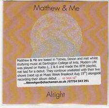 (EQ323) Matthew & Me, Alright - DJ CD