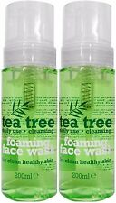 2 x 200ml Tea Tree Foaming Face Wash - Daily Use for Healthy, Clean Skin