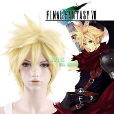 Final Fantasy VII 7 Cloud Strife Short Golden Blonde Cosplay Hair Wig