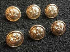 Gaunt London US USA American Army 16mm Gold / Gilt Stud Uniform Buttons