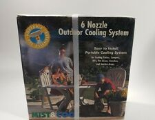 Mist & Cool 6 Nozzle Portable Outdoor Cooling System Kit Quick Easy Installation