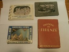 VINTAGE LOT OF 4 MINIATURE PICTORIAL ALBUMS AND MINI POSTCARDS
