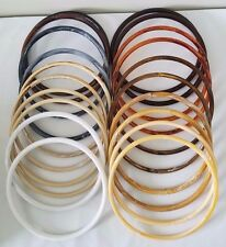 """Lot of 10 Pair Assorted Color 9"""" Round Plastic Macrame Purse Handles Craft Rings"""