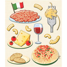 K&COMPANY STICKER MEDLEY ITALIAN FOOD ITALY DIMENSIONAL 3D SCRAPBOOK STICKERS