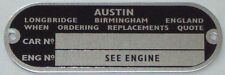CLASSIC MINI CHASSIS PLATE AUSTIN EARLY MORRIS LEYLAND BMC COOPER 998 1275 3T3