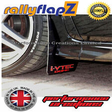 rallyflapZ HONDA CIVIC TYPE R FN2 (2007-2010) Mud Flaps Black Logo iVTec 3mm PVC