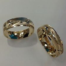 14K YELLOW GOLD HIS AND HER WEDDING BAND SET 5-13 FREE ENGRAVING & SHIPPING