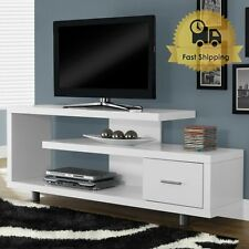 Tv Stands For Flat Screens 60 White Modern Tv Media Console With Drawer Low