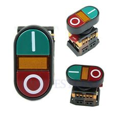 Light Indicator Momentary Switch Red Green Power ON OFF Start Stop Push Button