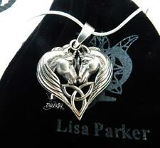 Sterling Silver Unicorn Hearts necklace by Lisa Parker Licensed Product logo bag