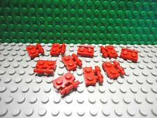 Lego 10 Red 1x2 plate with side handle NEW