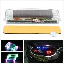 Solar Wireless LED  Flashing Strobe Warning Emergency Fog Lamp Car SUV Van Grill