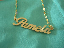 Designer Personal YOUR Name BRASS HANDCARVED Name neck chain GIFT NAME