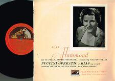 "JOAN HAMMOND Puccini Operatic Arias 10"" Vinyl LP GLAUCO CURIEL HMV UK BLP1086"