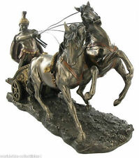 "Large Roman Chariot and Warrior 26"" Statue Sculpture Figurine Ship Immediately!!"