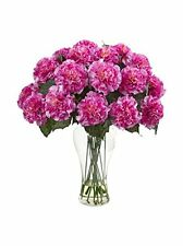 Nearly Natural 1403-DP Blooming Carnation Arrangement with Vase NEW