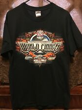 WORLD of OUTLAWS World FINALS 2013 ~ LRG ~ Charlotte NC Dirt Car Racing T Shirt