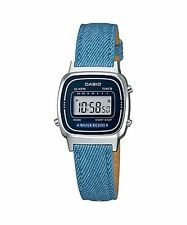 CASIO LADIES DIGITAL WATCH WITH BLUE LEATHER STRAP LA670WL-2A2DF