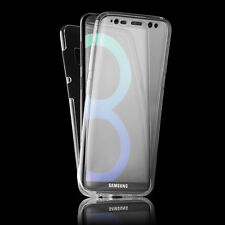 360° Front And Back Protective TPU Clear Case Cover Fr Samsung Galaxy S7 S8 Plus