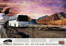Publicité advertising 1987 (2 pages) Bus Autocar Autobus Renault FR1