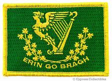 ERIN GO BRAGH embroidered iron-on IRISH BIKER PATCH - IRELAND SHAMROCK FLAG eire