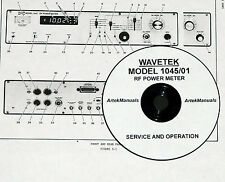 WAVETEK 1045 / 01 RF Power Meter,  SERVICE AND OPERATION MANUAL