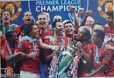 "MANCHESTER UNITED ""2007/2008 PREMIER CHAMPIONS"" POSTER - Giggs, Ronaldo With Cup"