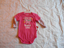 Reindeer Onesie, 3/4 sleeves, 0-3 months, I light up Daddy's life