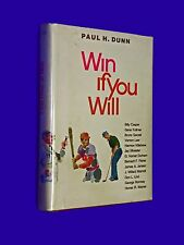 SIGNED Win If You Will HCDJ Hardcover Book HC Dust Jacket Paul H Dunn Mormon LDS