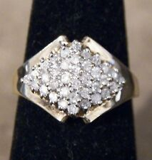 Estate Solid 10kt Gold and Diamond Ring Size 7.25