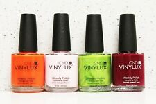 CND VINYLUX Weekly Polish SET OF 4 Colors 7 Days Nail Lacquer Lot Kit   Ship 24H