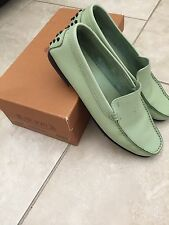 Tod's Leather Light Green Loafer Size 39