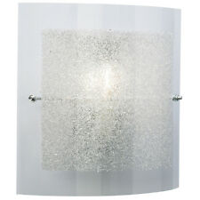 Stylish Wall Light With Ornate Glass Shade By Philips - Bargain Price