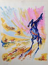 Dessin de Ruben GROSMAN(1914-2010), acrylique +aquarelle sur papier