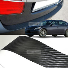 Carbon Black Rear Bumper Protector Decal Sticker for INFINIT 2008 - 2013 G35 G37