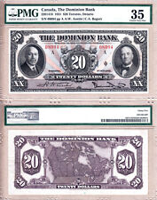 "PMG CH VF35 1931 $20 The Dominion Bank. Large ""Rainbow Note"" (Now TD Can Trust)"