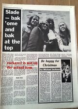 SLADE 'bak ome' 1973 UK ARTICLE / clipping