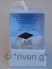 OWL@PREMIUM GRADUATION GIFT Box@Glass@PERSONALISED Card Verse@DEGREE KEEPSAKE