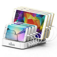Quick Charge7-Port USB Charger Station Multi USB Charging Dock white