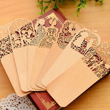 1x Vintage Wooden Hollow Bookmark Office School Students Supplies Gift Random AT
