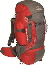 SHOP SOILED Highlander Discovery Chili/Grey 65 Litre Rucksack Hiking Camping