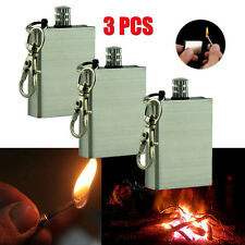 3PCS Outdoor Camping Emergency Survival Flint Match Fire Starter Hiking Tool Kit
