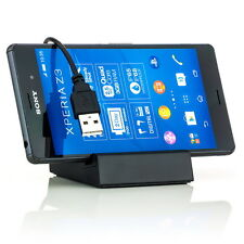 Lade Gerät für Sony Xperia Z3 Compact + Z3 Magnetic Docking Station USB Kabel