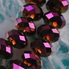 300pcs Purple red Faceted Swarovsk Crystal Gemstone Beads 4X6MM LL0036
