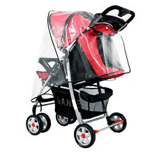 Universal Clear Waterproof Rain Cover Wind Shield Fit Most Strollers Pushchairs