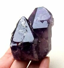 181g Natural Skeletal Amethyst QUARTZ Crystal Double point Mineral Specimen
