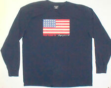 Mens XL Polo Jeans Ralph Lauren Long Sleeve Tee Black Cotton